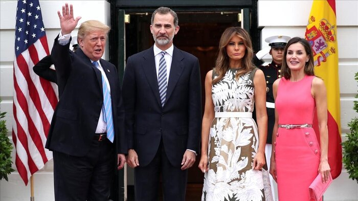 Felipe et Leti reçus par Trump