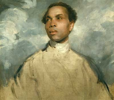 Sir Joshua Reynolds' oil on canvas, 'Study of a Black Man'. Man in painting;Francis Barber.