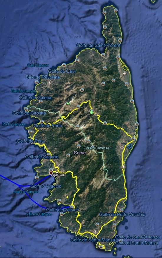 Corse Fin  Piscines de Cavu - îles sanguinaires