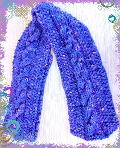 Echarpe violette et Piou