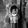 Comanche baby & cradleboard, Lawton, Oklahoma. 1920-1930. Photo by Bates