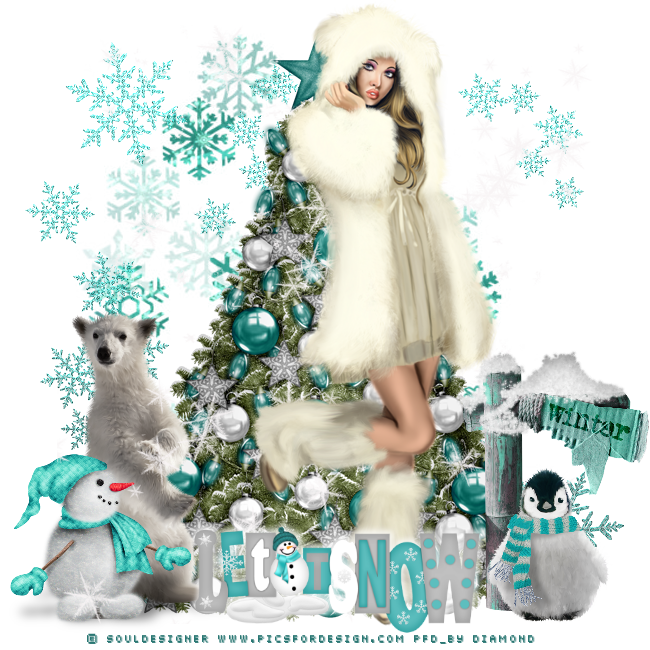 "Tutoriel ""Christmas blue"" de Liligraph"