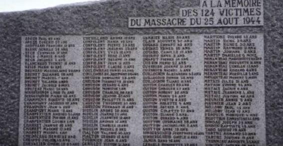 Un trauma : la tuerie SS de Maillé (Indre-et-Loire) !