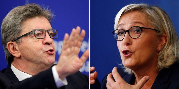 Une alliance Jean-Luc Mélenchon-Marine Le Pen? Les Français n'y croient pas.