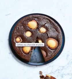Gâteau au chocolat et poire