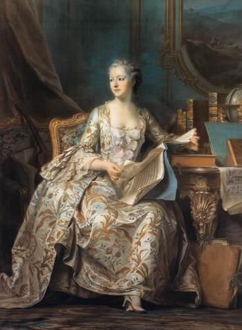 Maurice Quentin de  La tour, Madame Pompadour (1755).