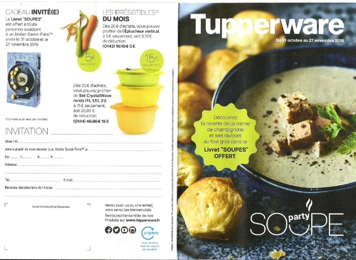 Promotion Tupperware Novembre
