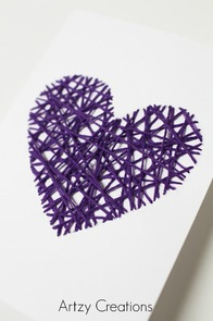 DIY-String-Art-Valentine's Day-Cards-Artzy Creations 7
