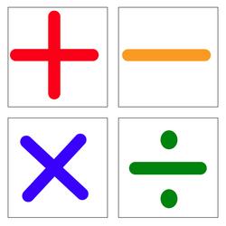 symboles des 4 opérations