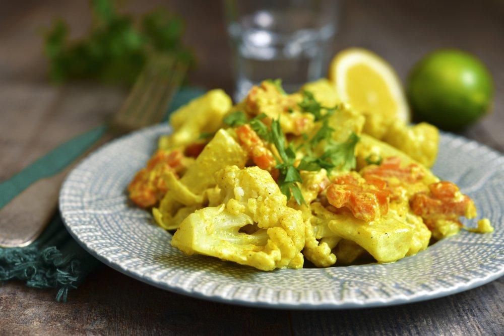 Chou-fleur vinaigrette curry
