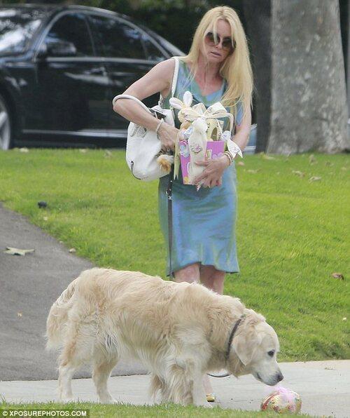 Nicolette Sheridan et son chien Oliver.