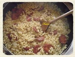risotto de coquillettes au chorizo