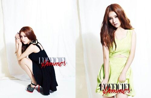 Kim So Eun pour l'Officiel Homme