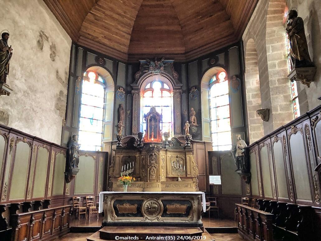 Eglise Saint-André d'Antrain (35)