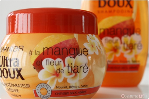 Shampooing et Masque réparateur Mangue et Fleur de Tiaré, Ultra Doux