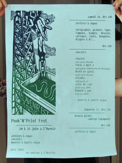 punk'print fest 24 & 25 juin à l'avenir