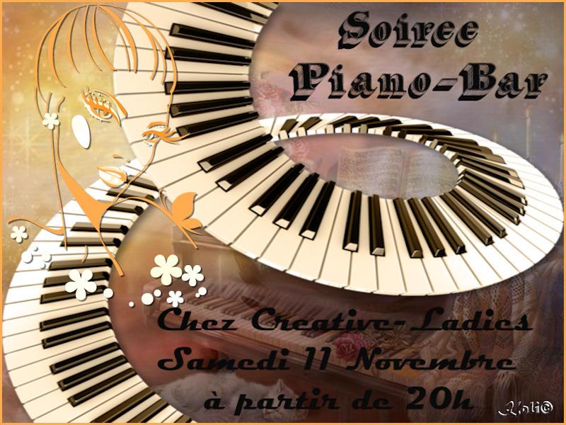 Affiche piano bar