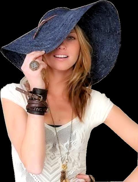 Tubes femmes chapeaux création 18