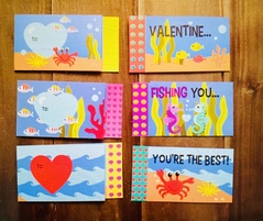 Préparation des cartes pour la Saint Valentin.