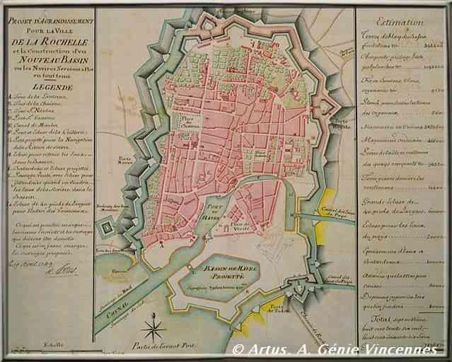 La Rochelle le siège projet d'agrandissement du port au XVIIIème siècle