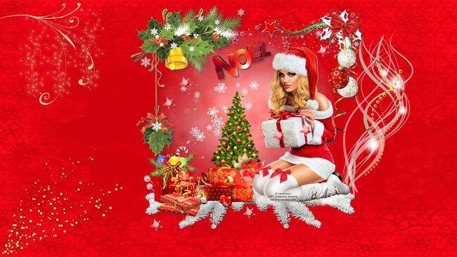 Super Tag de Noël + Cluster + Fond 10