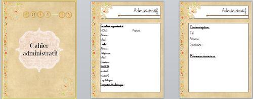 Carnet administratif de la maîtresse
