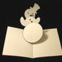 Carte pop up noel bonhomme de neige