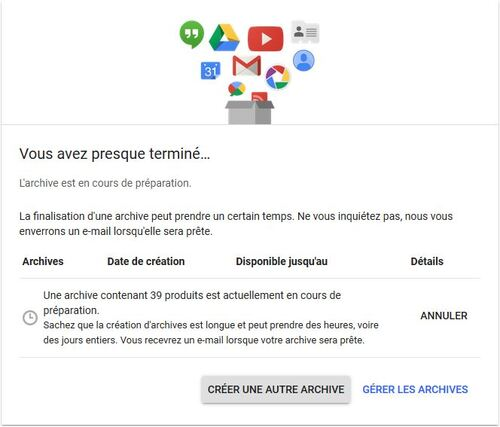 Comment tout sauvegarder si tu utilise Google