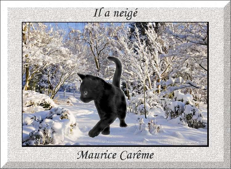 """"""" Il a neigé """" poème de Maurice Carême"""