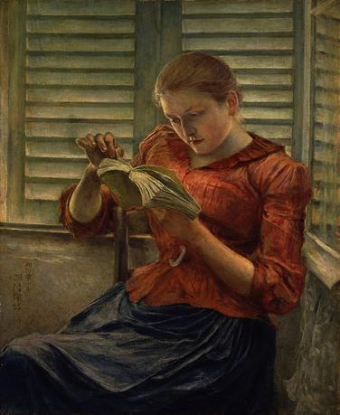 03 - Jeunes filles lisant peintures 19 ème