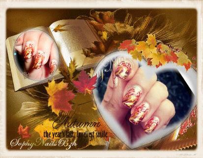 Automne Nail Art inspirée par Robin Moses