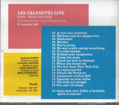 Le choix des lecteurs # 151: Les Calamités - ENTPE Vaulx en Velin - 7 Novembre 1985
