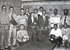 """Anhée-Yvoir - Assemblée générale 1995 du Club """"Le Pédalier Mosan""""."""