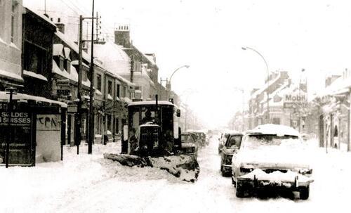 Énormes chutes de neige à Calais dans la nuit du 1er janvier 1979