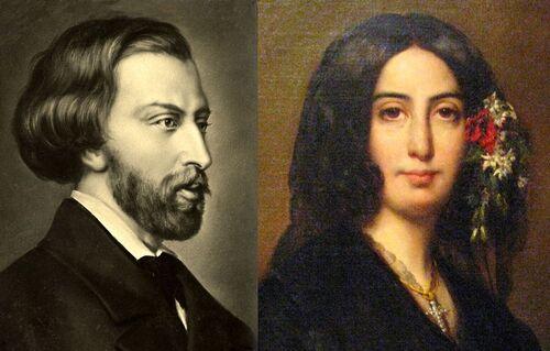 Alfred de Musset et Georges Sand