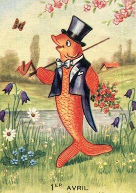 Poisson d'avril (Origine du) Le Poisson d'avril, tout le monde le sait, n'est autre chose qu'une attrape, un piège innocent (et bienséant, cela va sans dire) que l'on tend à quelque personne amie, parente ou familière, le premier jour de ce mois d'avril. Donner un poisson d'avril à quelqu'un, c'est lui faire faire une démarche inutile, lui annoncer une nouvelle qu'on invente, l'envoyer au-devant de quelqu'un qui ne vient pas, en un mot, se divertir un peu à ses dépens, et éprouver sa patience... > La suite sur http://bit.ly/H60Pv7
