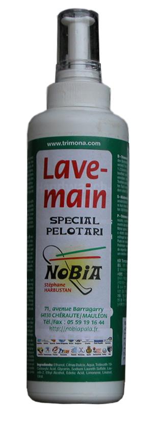 Vente lotion lave-mains, accessoires pour le jeu de pala, pelote basque.