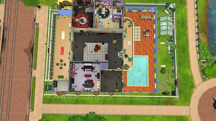 La villa du lac Bleu ,maison de la famille Gothik #sims4