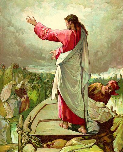 Jesus Teaching the Masses - Artist Unknown