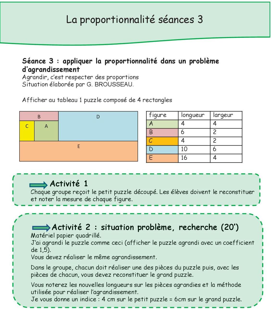 La Proportionnalite En Classe Pascale
