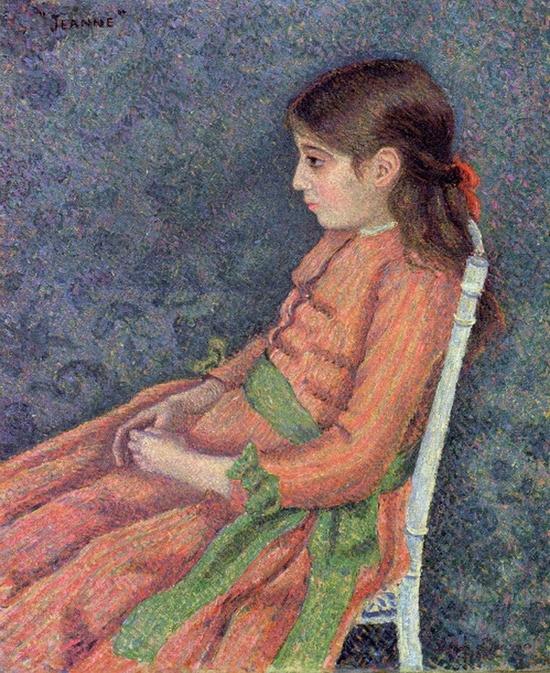 Lucien Pissarro, Portrait de Jeanne