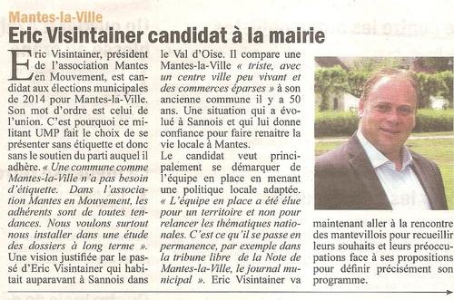 Article paru dans la Gazette du Mantois le 5 juin 2013