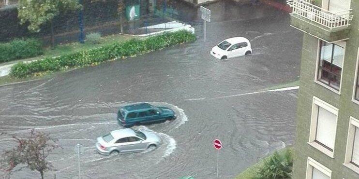 Près de Bilbao, les orages ont provoqué des inondations.