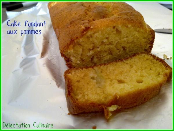 Cake fondant aux pommes; un délice ...