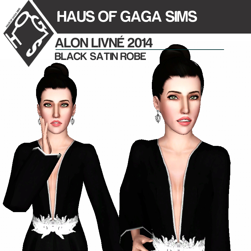 ALON LIVNÉ 2014 BLACK SATIN ROBE