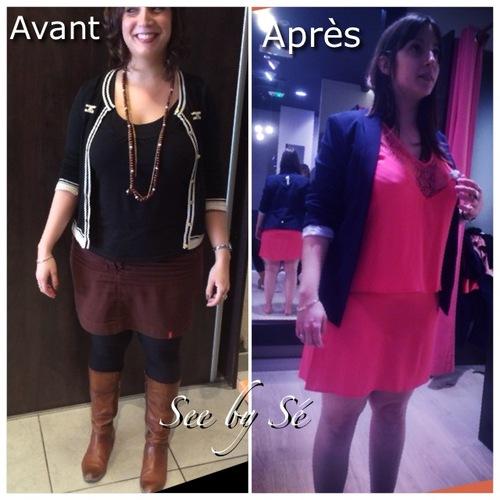 Relooking Avant/Après Manon