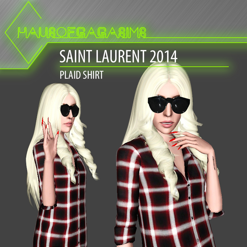 SAINT LAURENT 2014 PLAID SHIRT