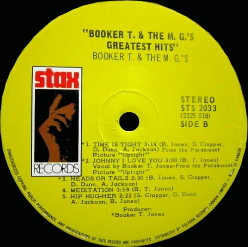 "1970 : Album "" Greatest Hits "" Stax ‎Records STS 2033 [ US ]"