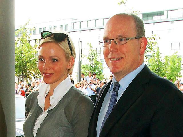 Albert et Charlène à Berlin