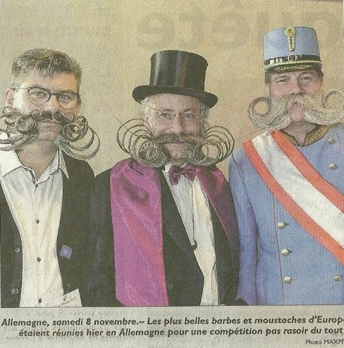 Moustaches....